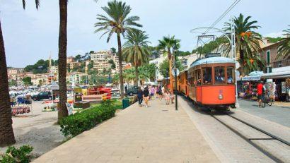 Le train qui relie Majorque à Soller