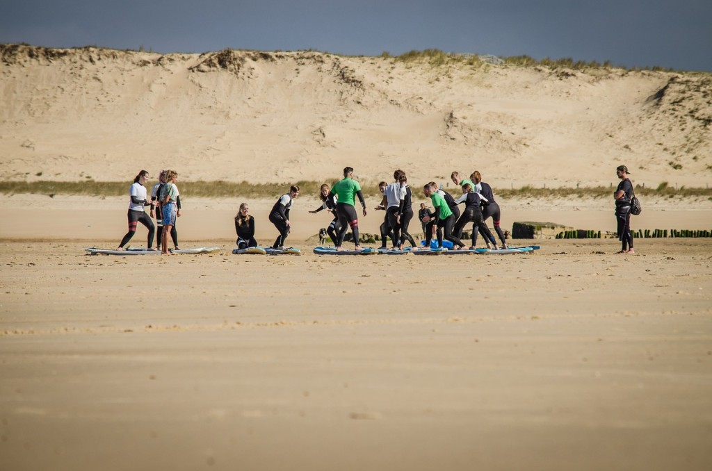 Voyage scolaire colonie vacances surf