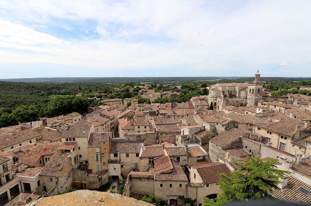 La ville d'Uzès dans le Gard